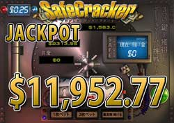 SAFE CRACKERでJACKPOT賞金11,952.77ドル獲得!