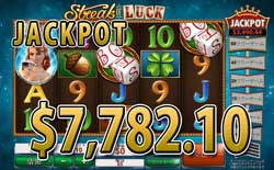 Streak of LuckでJACKPOT賞金7,782.10ドル獲得!
