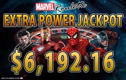 MARVEL RouletteでEXTRA POWER賞金6,192.16ドル!